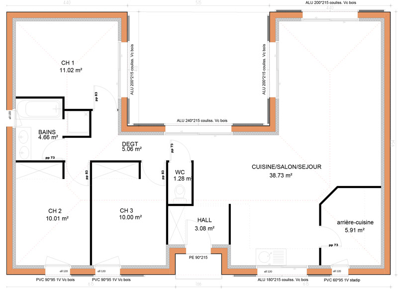 Plan Maison Contemporaine Plain Pied En U