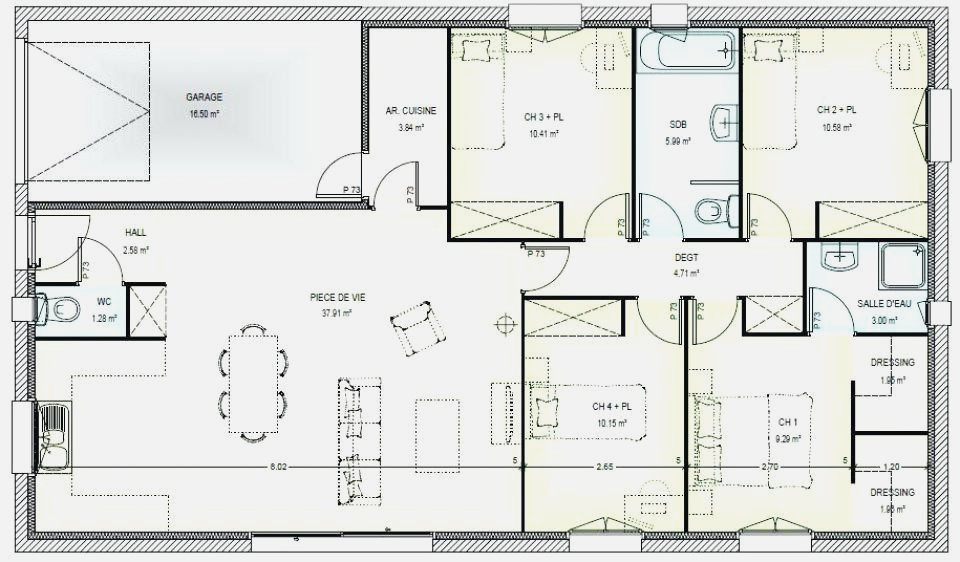 Plan Maison Contemporaine Plain Pied Gratuit Unique