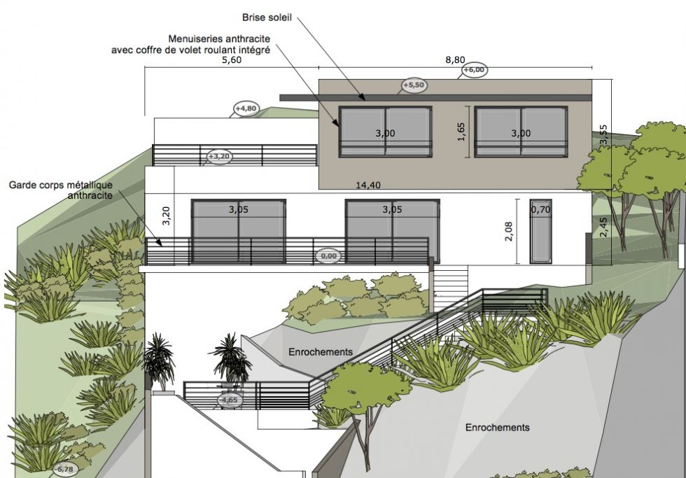 Plan Maison Contemporaine Sur Terrain En