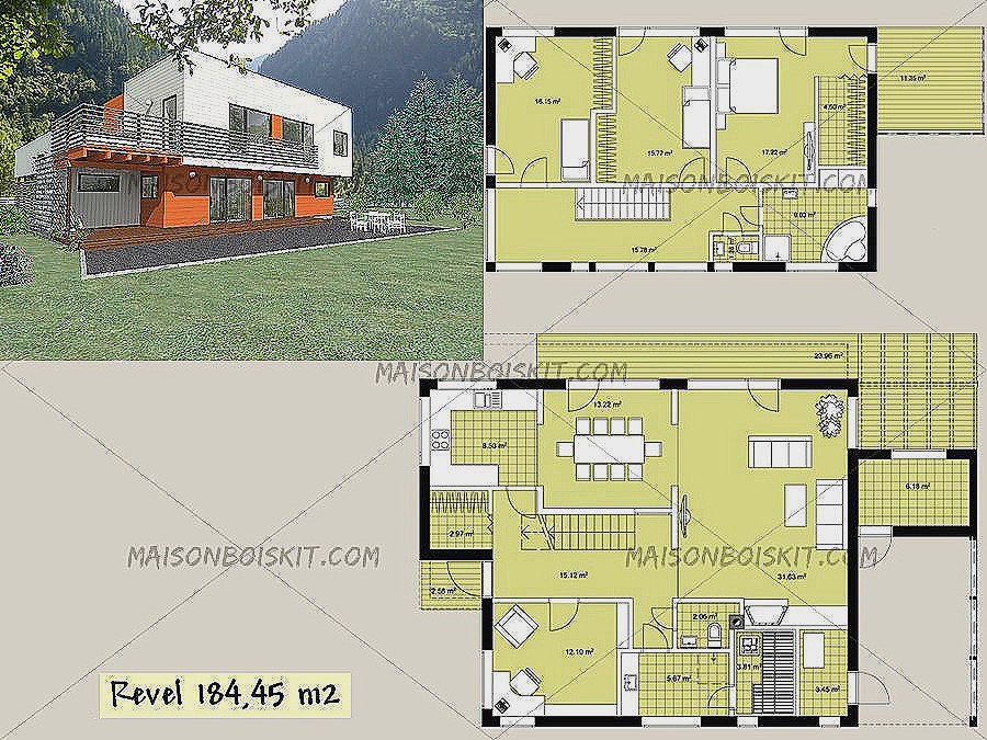 Plan Maison Contemporaine Toit Plat