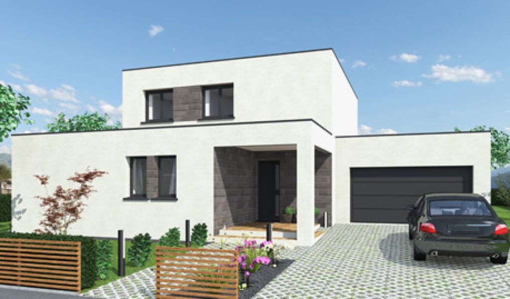 Plan Maison Contemporaine Unique Cubique Toit Plat