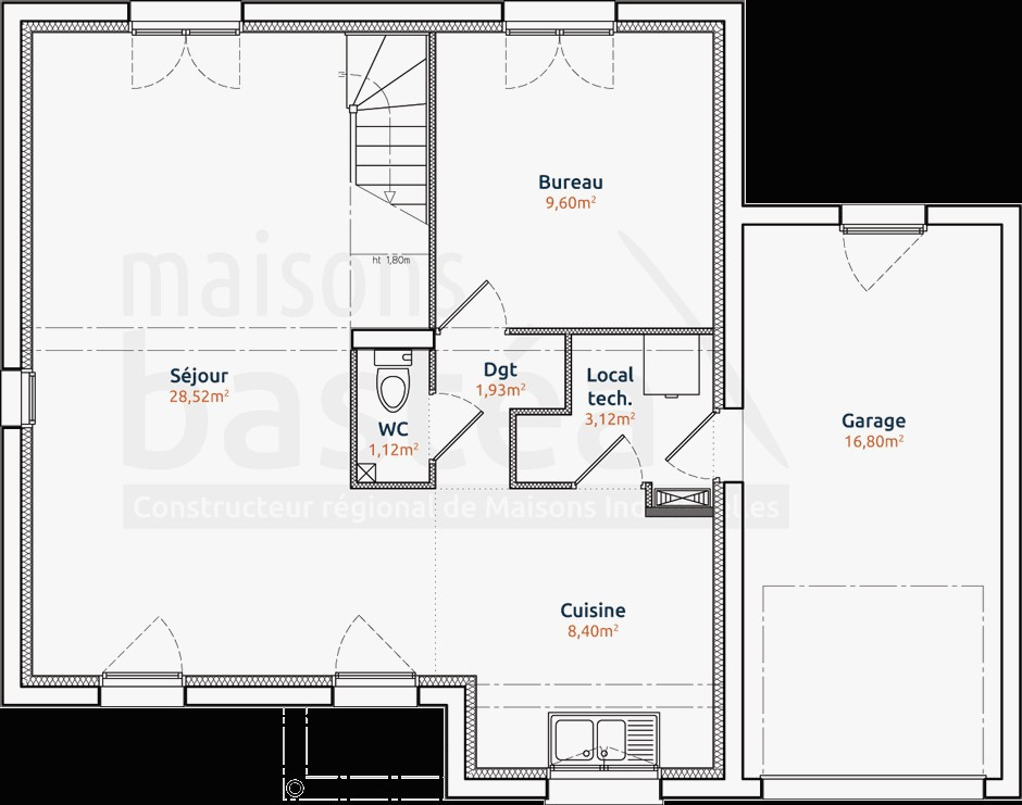Plan Maison Cubique Toit Plat Luxe Emma A1group Co