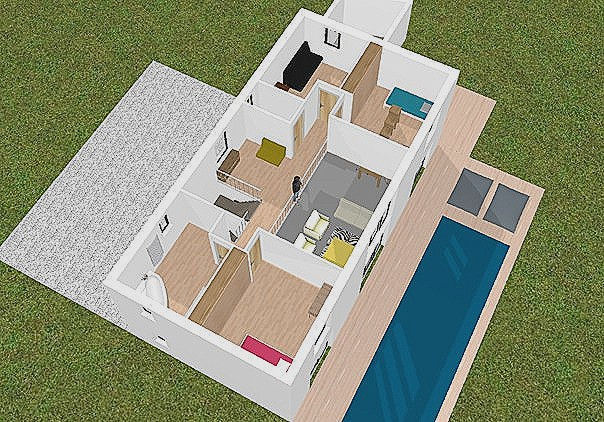 Plan Maison En 3d Stunning Bedroom House Plans Just The Two Of Us Id