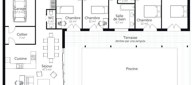 Plan Maison En T Affordable Simulation