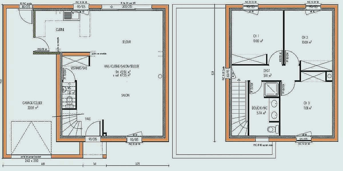 Plan Maison Etage 100m2 A1group Co