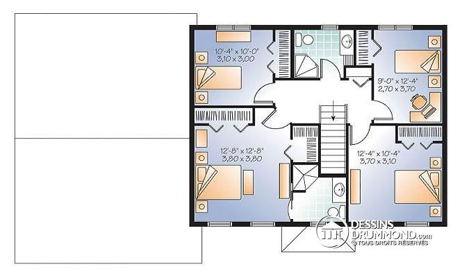 Plan Maison Etage 4 Chambres Gratuit Decorating Ideas