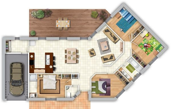 Plan Maison Moderne 100m2 Contemporaine Le Monde De L A A1group Co