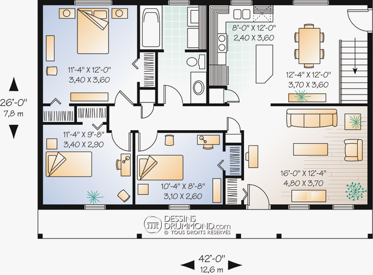 Plan Maison Moderne 4 Chambres