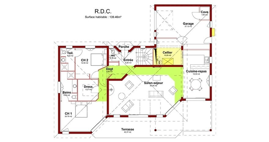 Plan Maison Moderne 5 Chambres 4 Immobilier Pour Tous Systembase
