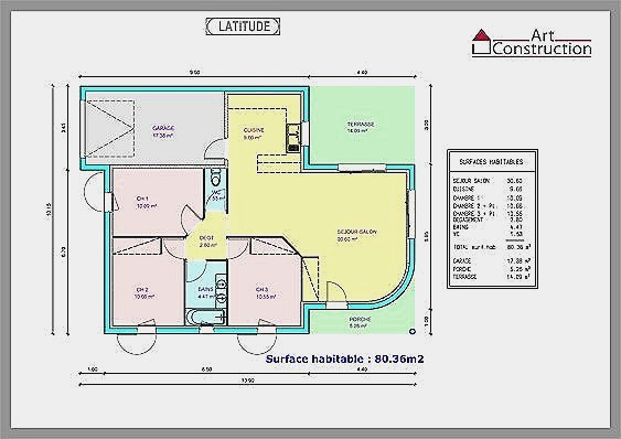 Plan Maison Moderne Plain Pied Gratuit 80m2 De 2 A1group Co