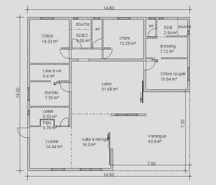 Plan Maison Plain Pied 120m2 Best