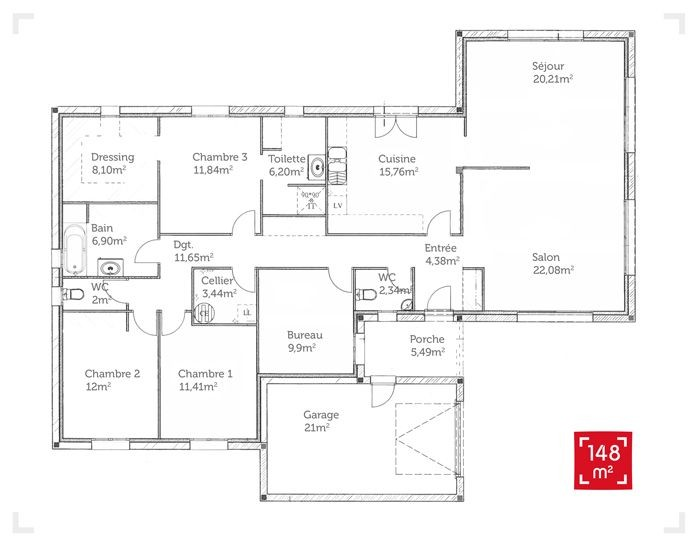 Plan Maison Plain Pied 150m2 Gratuit A1group Co