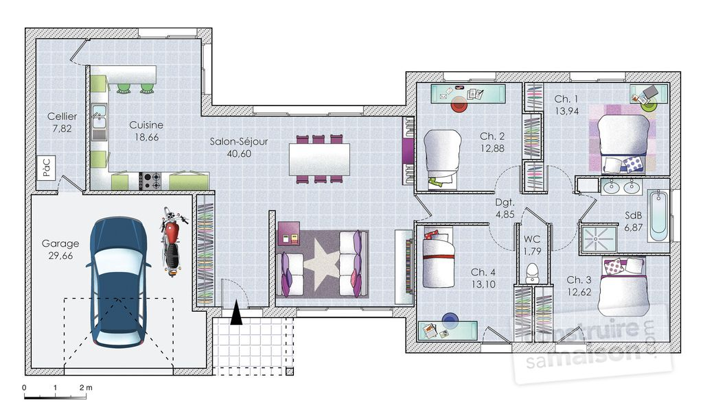 Plan Maison Plain Pied 160m2 Decorating
