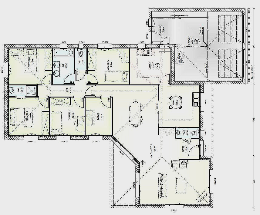 Plan Maison Plain Pied 200m2 Best Of De Affordable