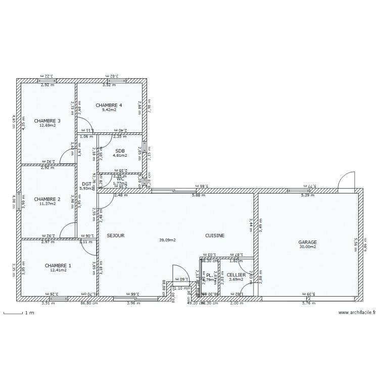 Plan Maison Plain Pied 80m2 Interesting M Plein 80 M2 3 Chambres 11