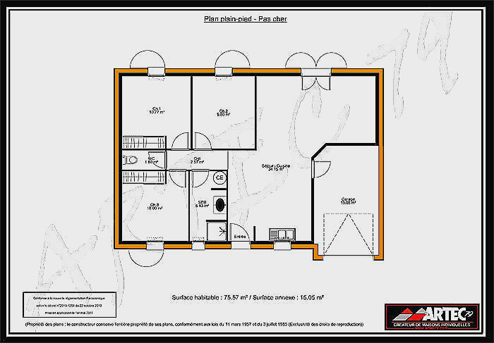 Plan Maison Plain Pied 80m2 Luxe Construction Unique De Politify Us