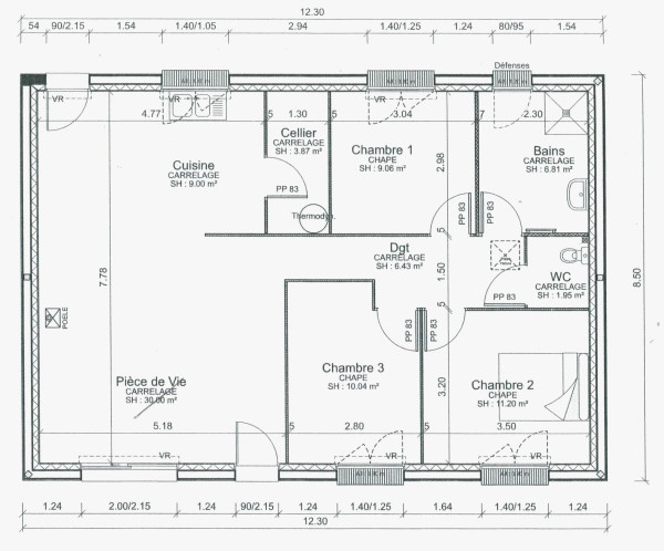 Plan Maison Plain Pied 80m2 Unique 60m2 Designinterior Politify Us