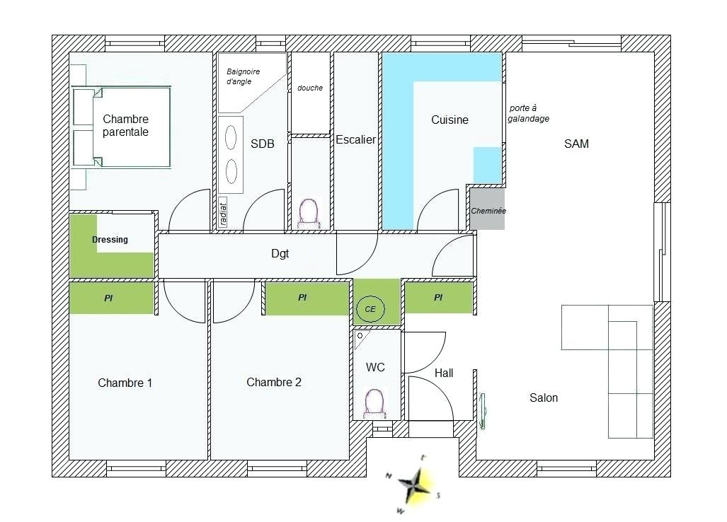 Plan Maison Plain Pied 90m2 Decorating Ideas
