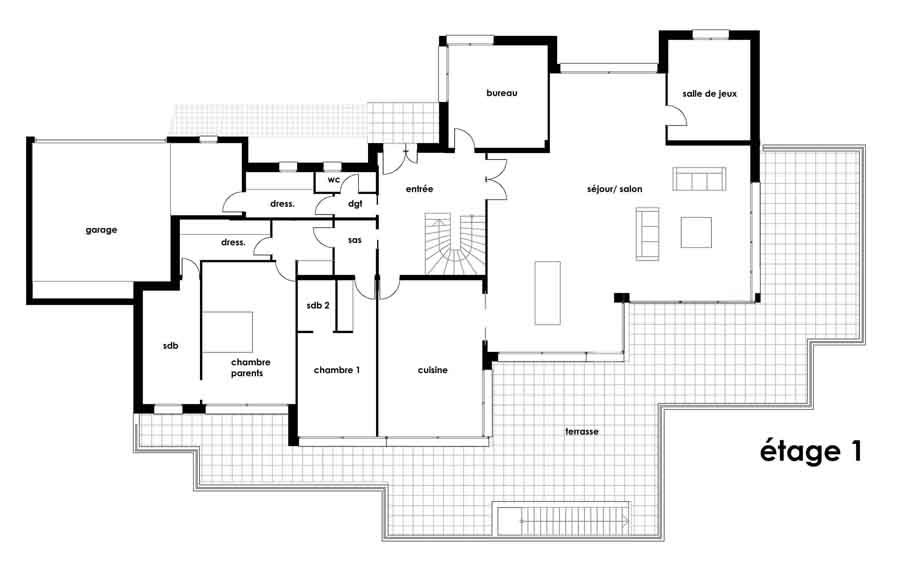 Plan Maison Plain Pied D Architecte