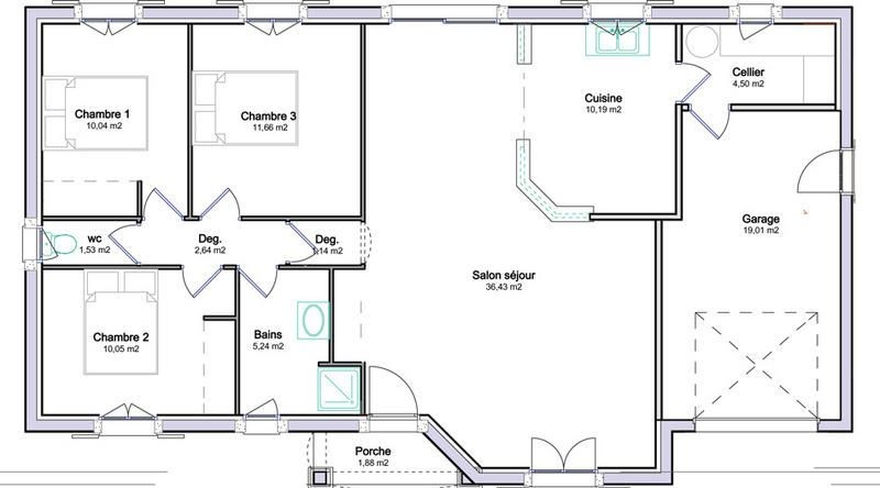 Plan Maison Plain Pied Gratuit A1group Co