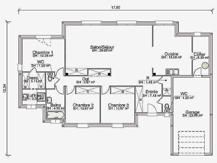 Plan Maison Sans Couloir Choosewell Co Newsindo Modele De