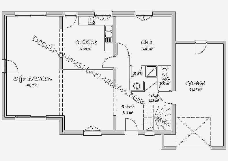 Plan Maison Sans Couloir Choosewell Co Newsindo Modele De 3