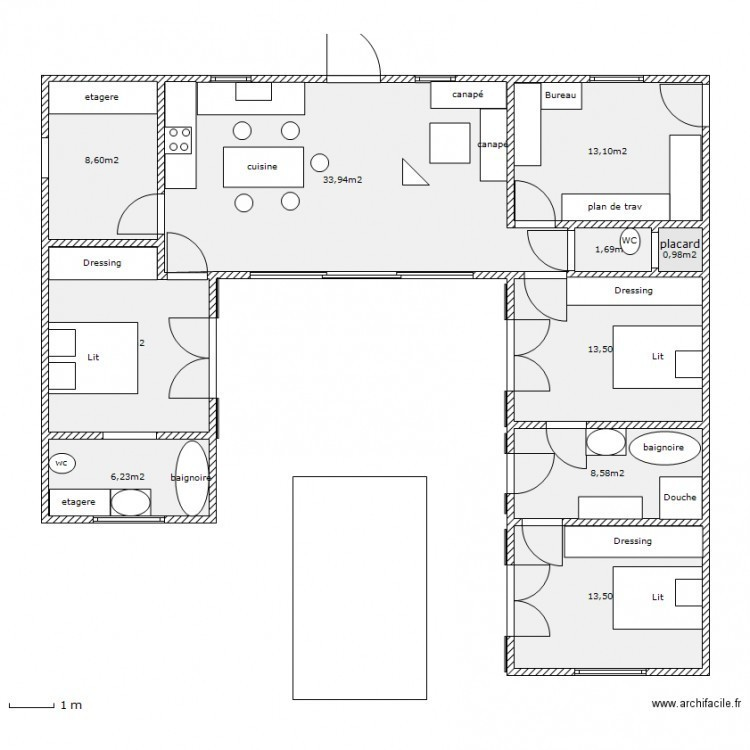 Plan Maison Sans Couloir Davidreed Co
