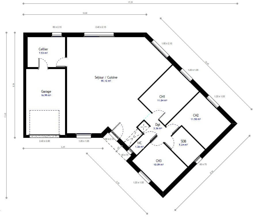 Plan Maison Sans Couloir Ipsita Co