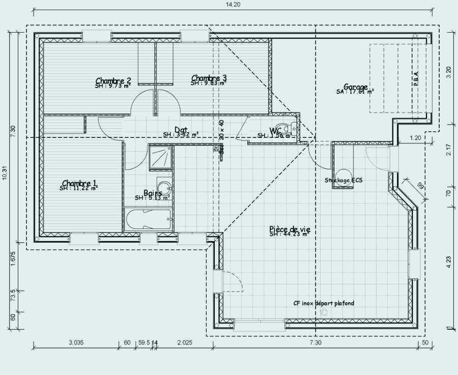 Plan Maison Sans Couloir Plain Pied 1 Choosewell Co Ipsita