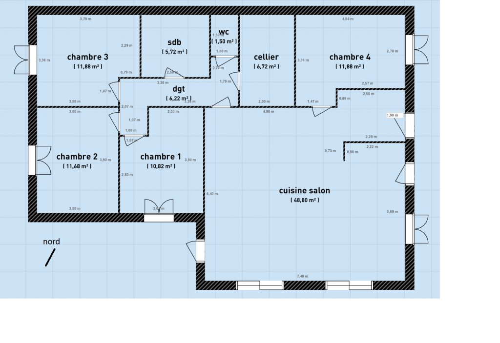 Plan Maison Sans Couloir Tlsoundandlight