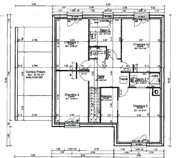 Plan Maison Senegal 150m2