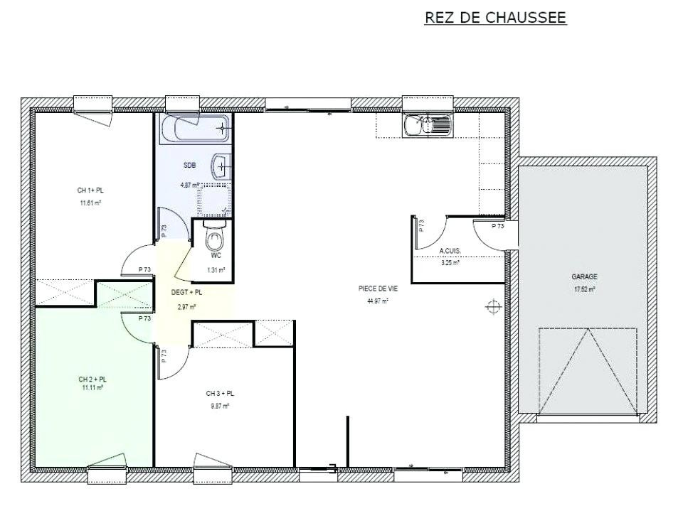 Plan Maison T4 Plain Pied 90m2 0 Mod Le 90 M Modulable T5 A1group Co