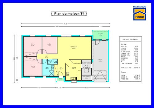 Plan Maison T4 Plain Pied A1group Co