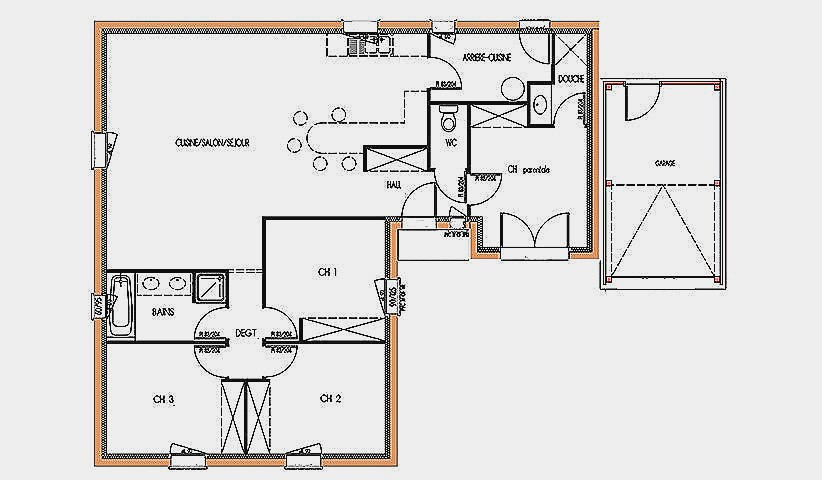 Plan Maison T4 Plain Pied Ipsita Co