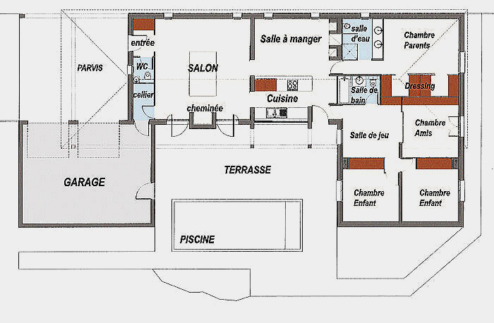 Plan Maison U Decorating Ideas