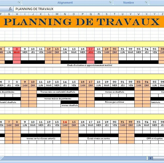 Planning Construction Maison Individuelle LE PLANNING DE TRAVAUX