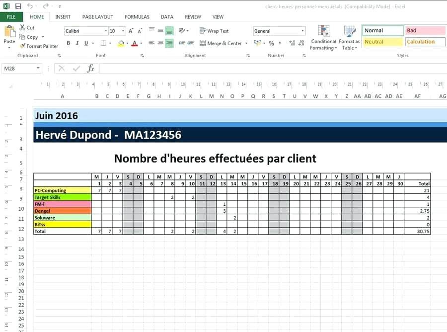 Planning De Chantier Excel Awesome Calendrier Annuel