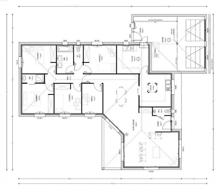 Plans De Maison En L Plan Construction Spa Ambershop Co Forme