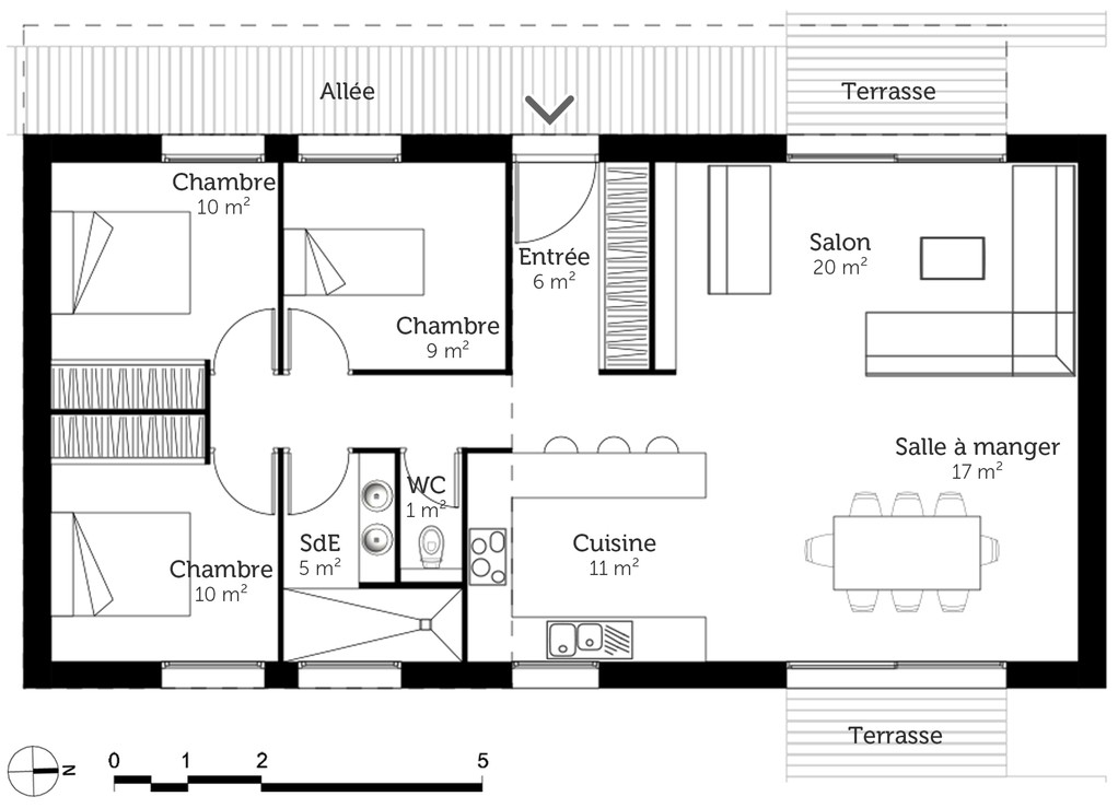 Plans De Maison Plain Pied 3 Chambres Davidreed Co
