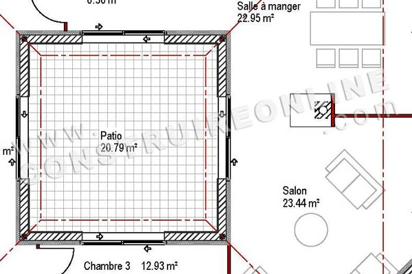 Plans Maison Cheap Librecad House Awesome Open Floor