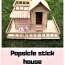 Popsicle Stick House Tutorial How To Build A Kid
