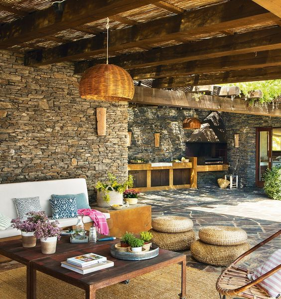 Porche Y Barbacoa R Stico In 2018 Outdoor Living Pinterest