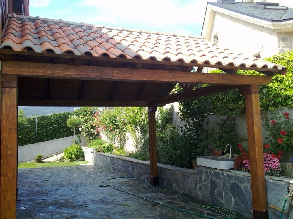 Porches De Madera Precios Latest Prgolas Hierro With