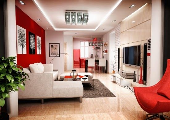 Sala Color Blanco Y Rojo Decoraci N Pinterest Hogar