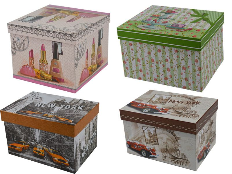 Set De 3 Caja Cart N Para Regalos Decoradas Con Taxis New York
