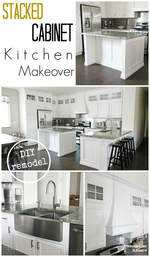 Stacked Cabinet Kitchen Makeover Cocinas Integrales