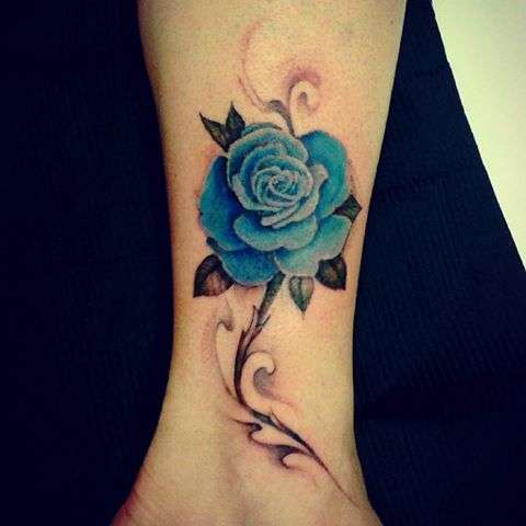 Tatuajes De Rosas Colores Great Flowers Tattoo With Color And