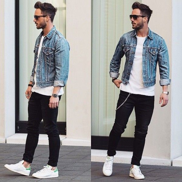 The Sexy And Charming Denim Jacket Looks Men S Fashion