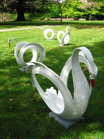 Tire Swans Swan Song Pinterest Llantas Reciclado Y