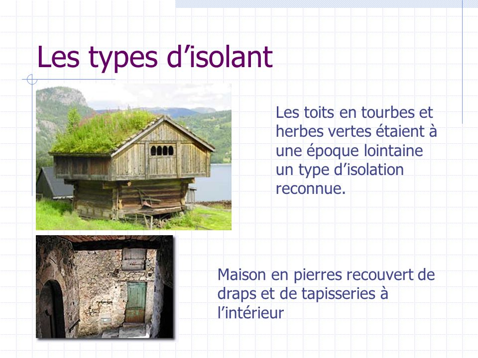 Type D Isolation Maison Les Types DIsolant Toits En Tourbes